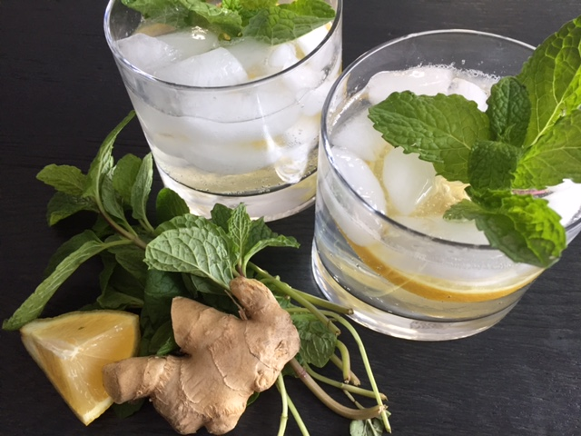 Ginger Lemon Mint Fizz