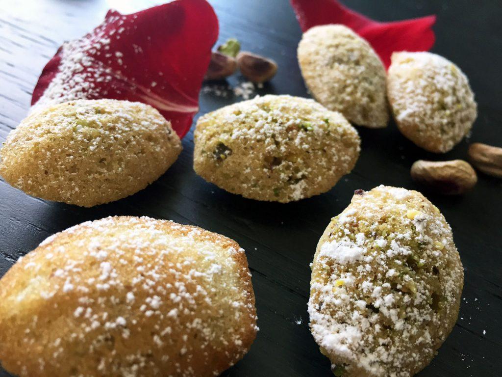 Food Mamma - Rose & Pistachio Madeleines