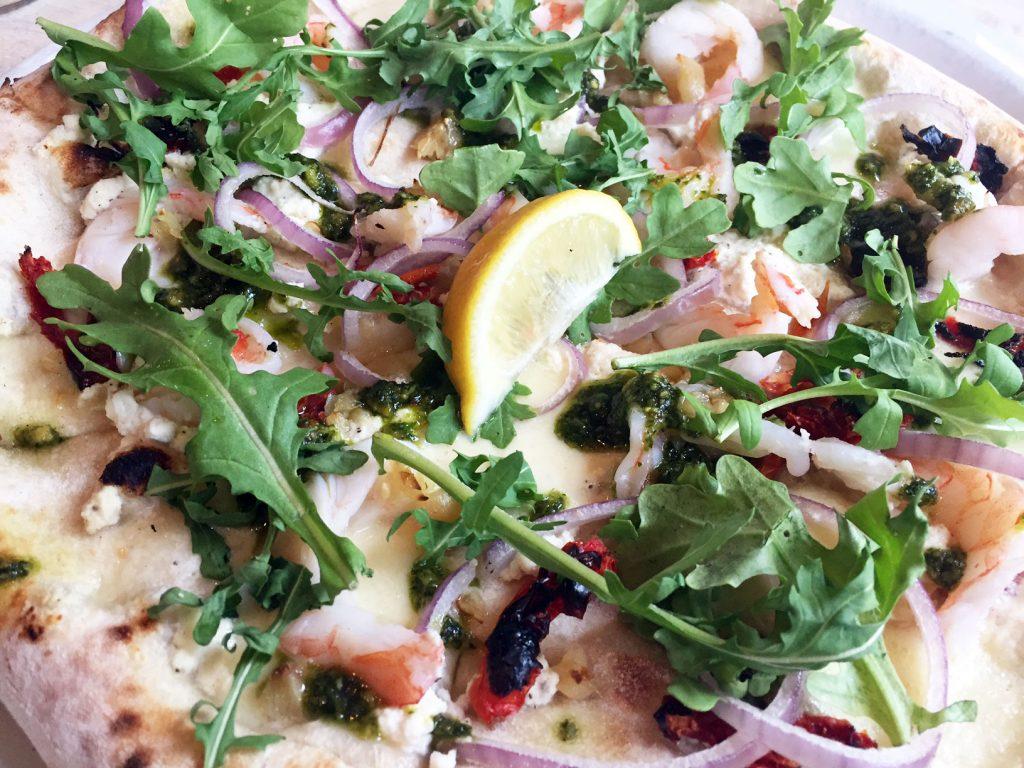 Famoso Prawn Pesto Pizza