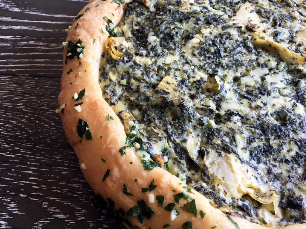 Spinach Artichoke Dip Pizza