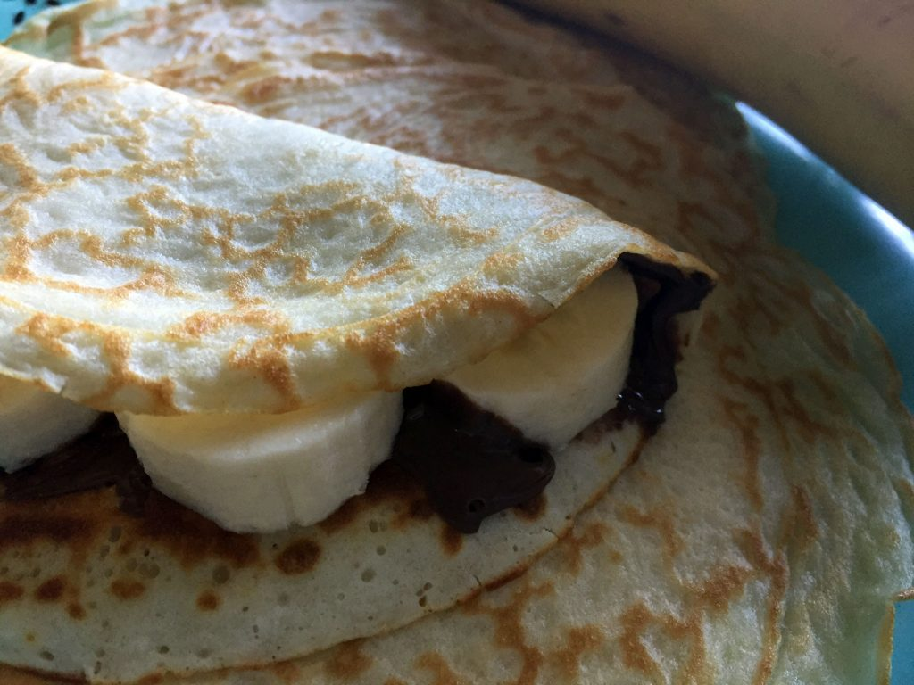 Nutella and Banana Crepes