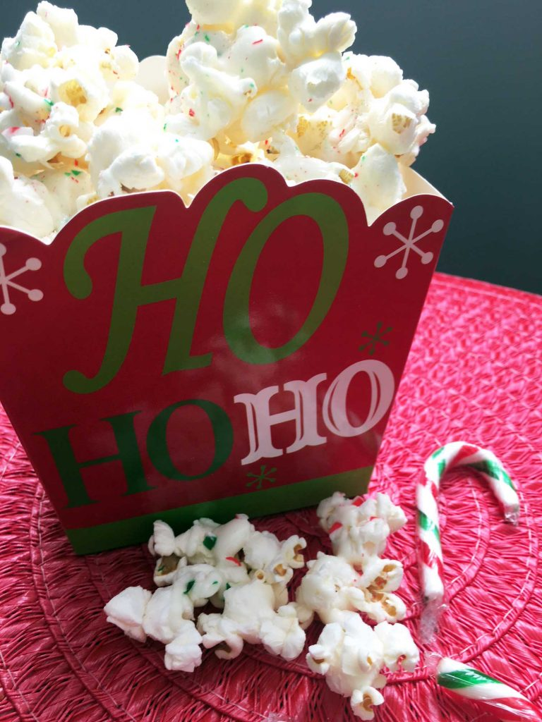 Candy Cane Popcorn in a box