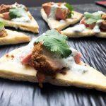 Indian Spiced Turkey On Pita Crisp
