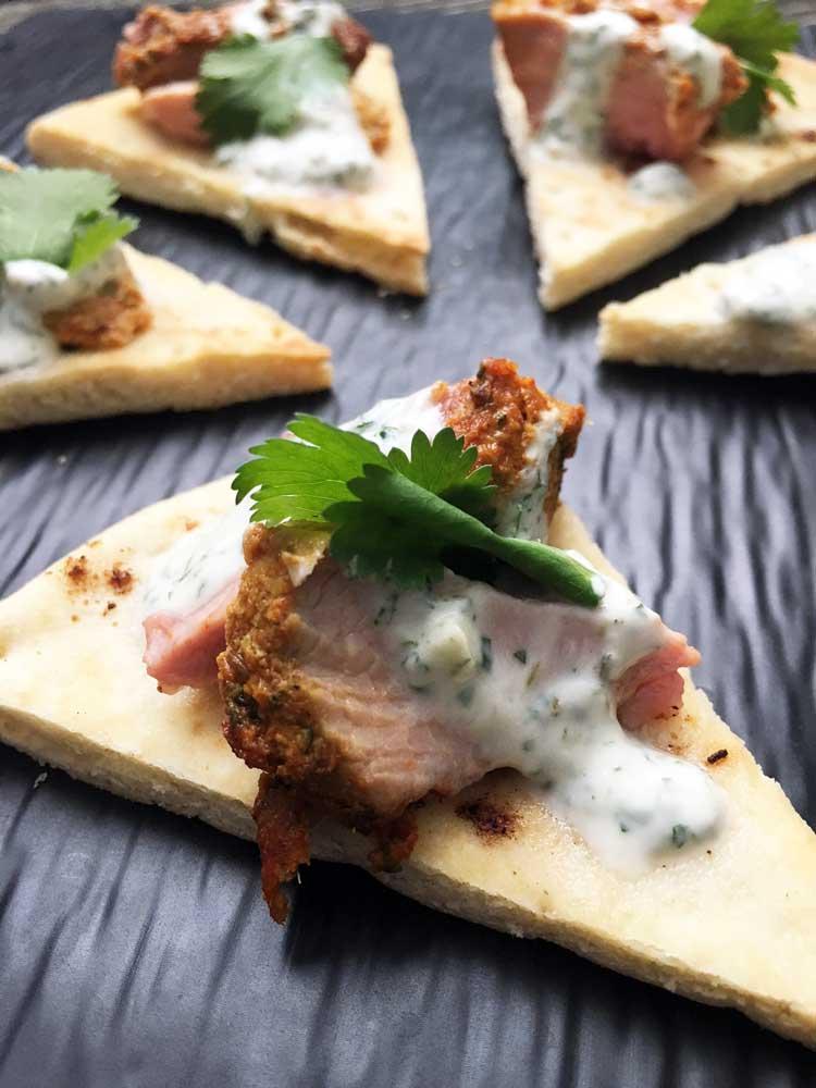 Indian-Spiced Turkey On Pita Crisp