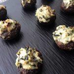 Spinach & Artichoke Dip Stuffed Mushrooms