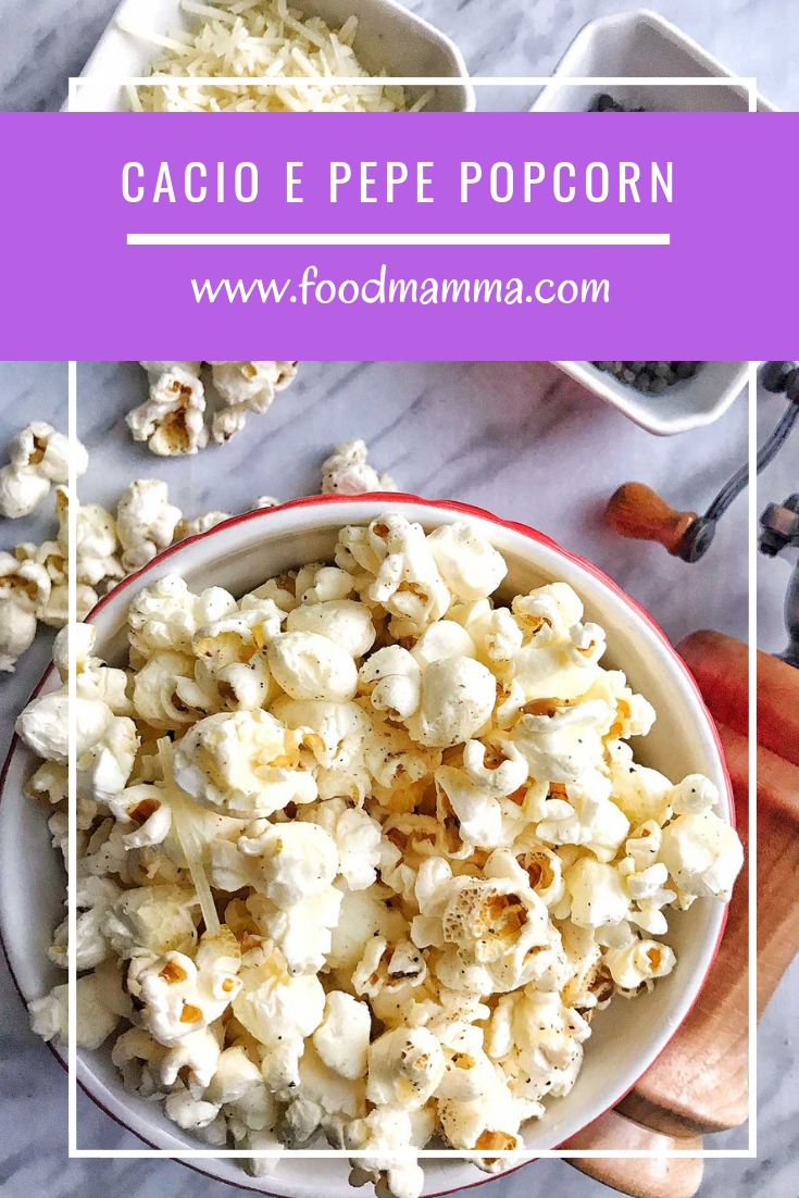 Take some simple ingredients like cheese and pepper and transform your popcorn into something out of the ordinary. This Cacio E Pepe Pocorn is savoury and so delicious!