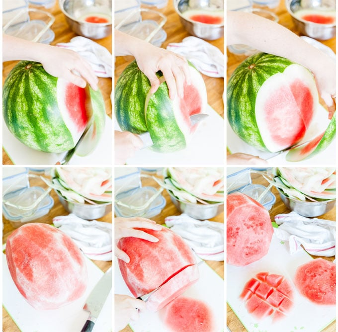 How to cut a watermelon - meal prep
