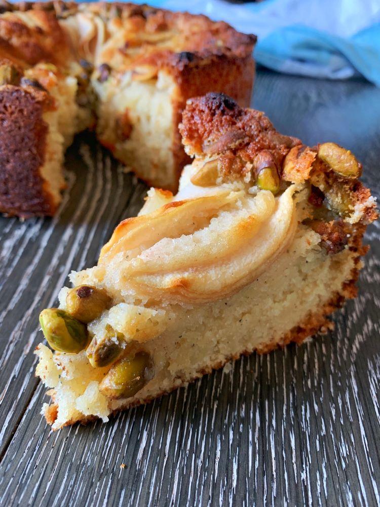 Pear, Cardamom & Pistachio Cake