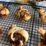 Puffy Balsamic Onion Jam and Brie Knots