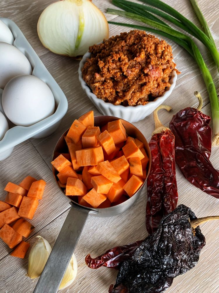 Chorizo Hash Ingredients