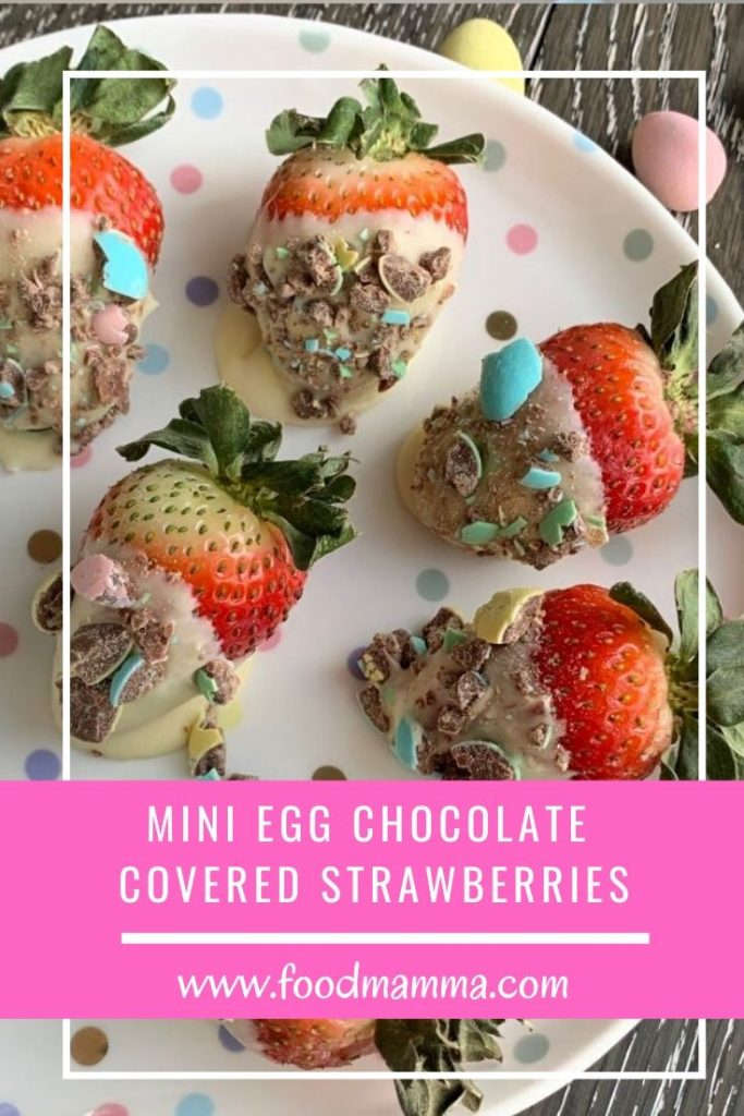 Mini Egg Chocolate Covered Strawberries