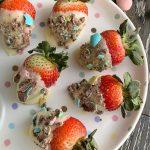 Mini Egg Chocolate Covered Strawberries