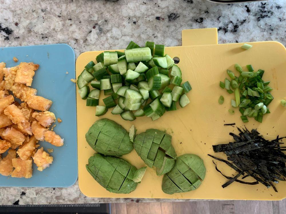 Sushi Bowl Ingredients
