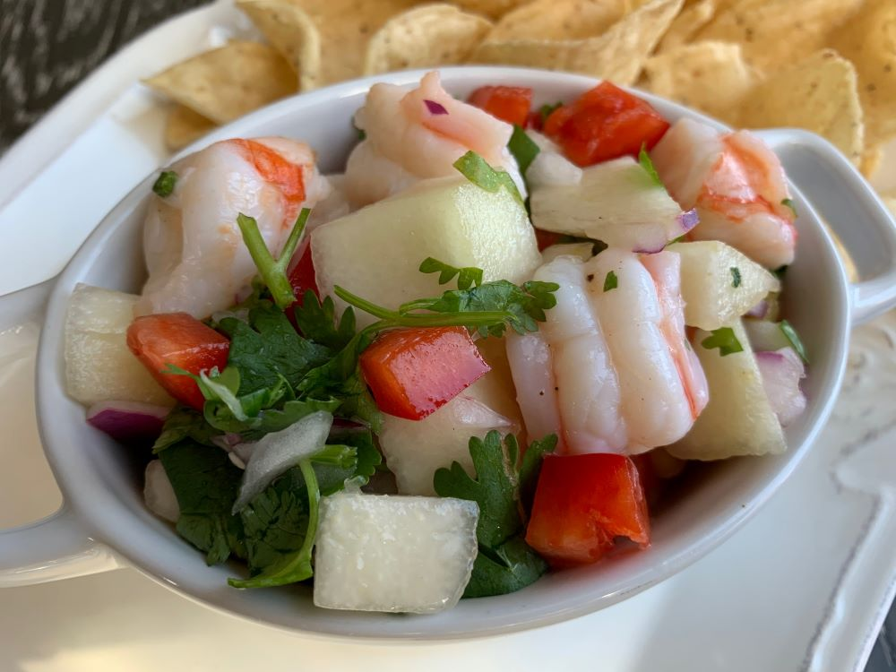 Pear and Shrimp Ceviche