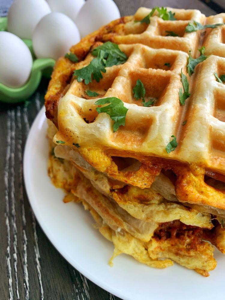 Puffy Shakshuka Waffles