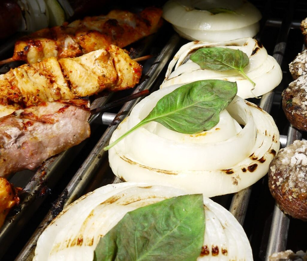 grilled USA onions