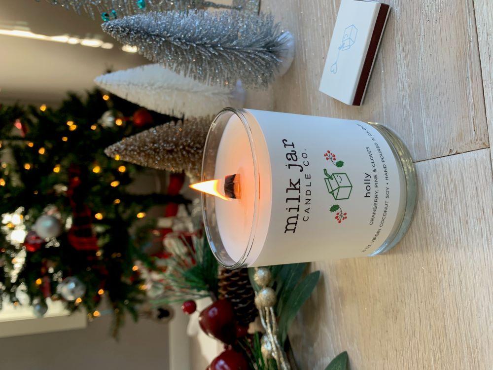 Milk Jar Holly