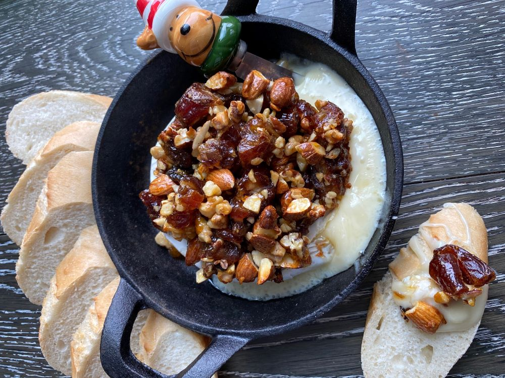 Date and Nut Baked Brie