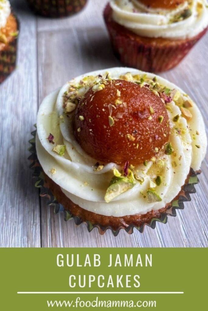 Gulab Jaman Cupcakes