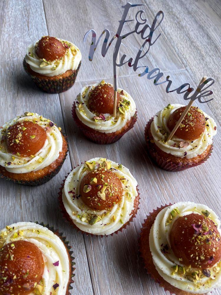 Gulab Jaman Cupcakes - Eid
