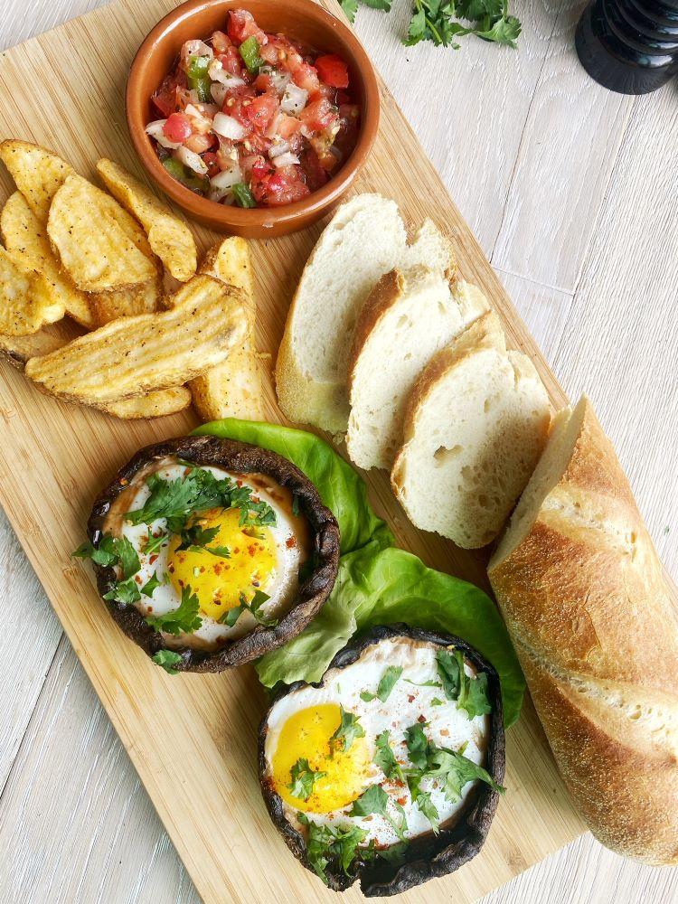 Grilled Mushroom Eggs